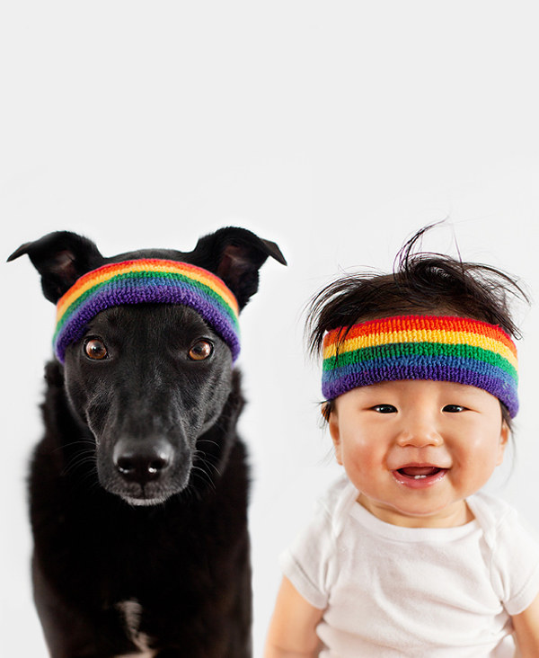 They like exercising together wearing flawless rainbow headbands.