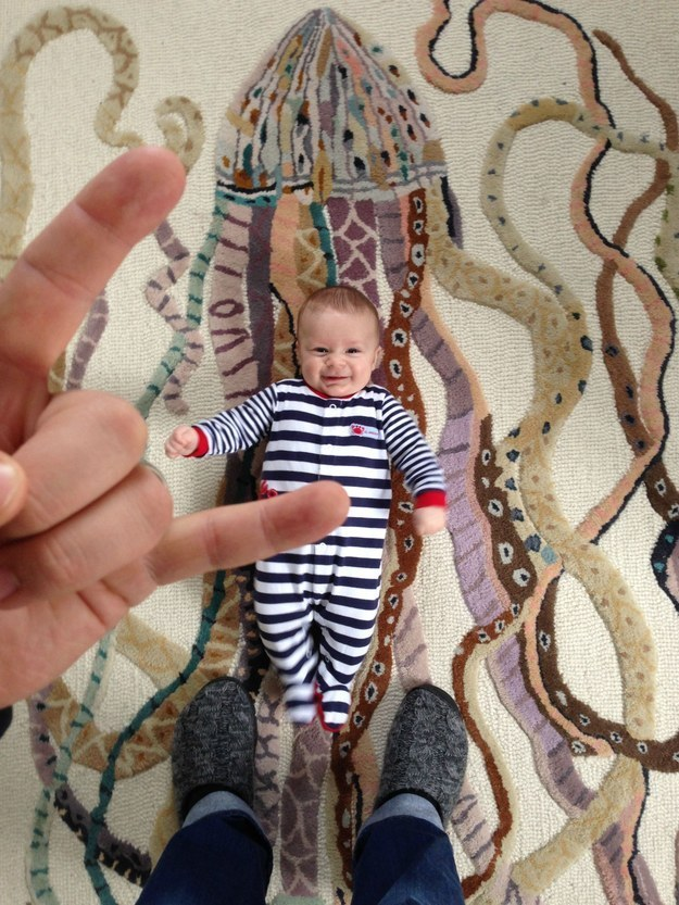 """""""Some people put up quite the stink about the """"metal hand"""" in the picture of my son at the zoo,"""" he wrote."""
