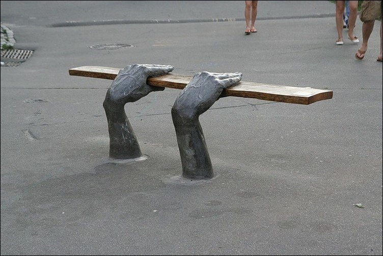 unusual benches